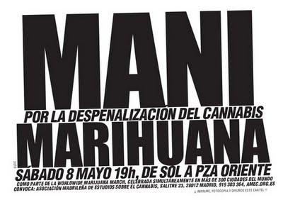 SABADO 8 DE MAYO Marcha Mundial de la Marihuana en Madrid