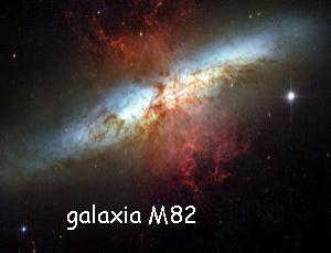 ondas de radio emitidas desde una galaxia cercana