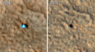 El cadaver de la Phoenix Polar Lander