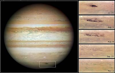 El Hubble identifica al atacante de Júpiter