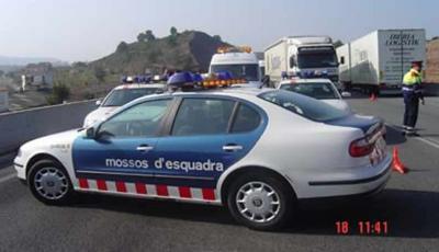 denunciado  conductor de vehículo de los Mossos