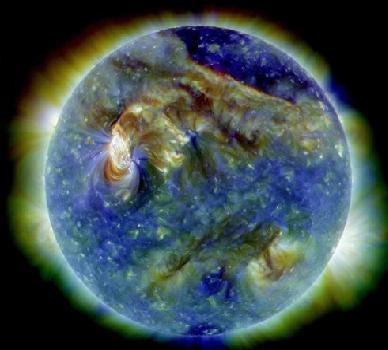 Erupción en la superficie del Sol clase C3