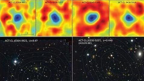 diez nuevas agrupaciones de galaxias masivas