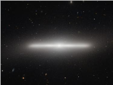 nuestra galaxia, vista de lado