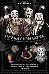 Anonymous la liará parda en los Goya