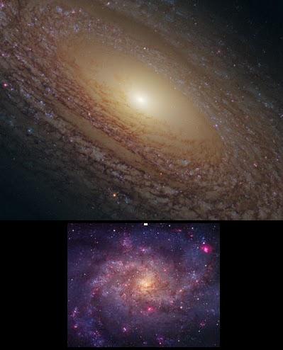 Primer plano de la galaxia espiral NGC 2841