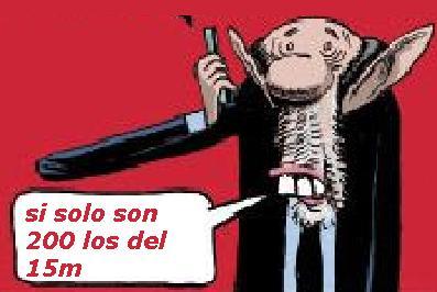 rubalcaba dice 200 indifnados:Más de seis millones de españoles han participado en el Movimiento 15M